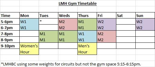 gym-timetable